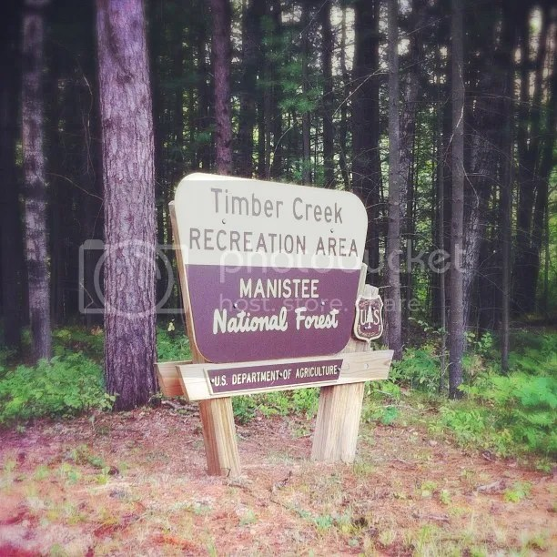 Manistee National Forest Sign