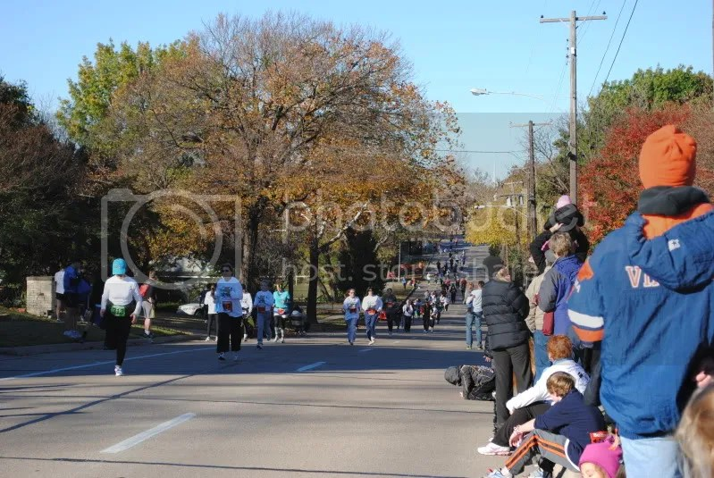 Race Participants Stretch Down Louisiana Street