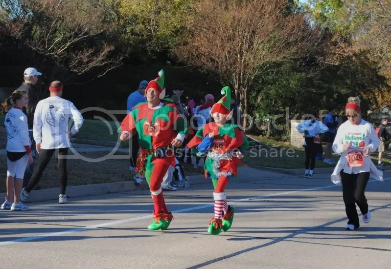 Santa's Helpers Coming Into The Finish Line