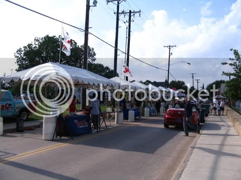 Vendor Tents at Bike The Bricks