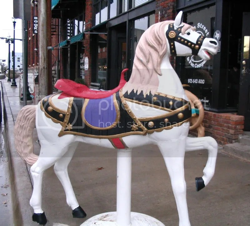 Carousel Horse Outside The Magic Company