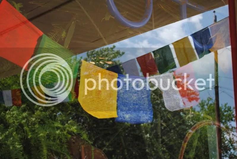 Tibetan Prayer Flags at Diggin' It