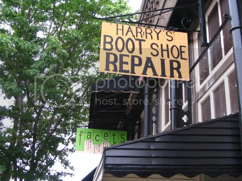 Harry's Boot & Shoe Repair Sign & Facets Sign