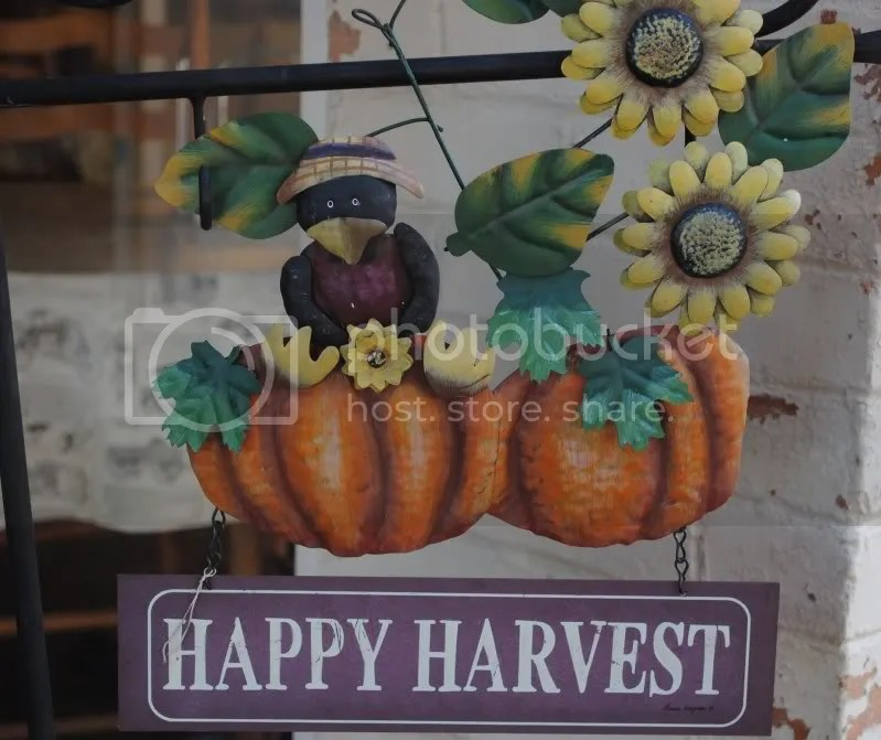 Happy Harvest Sign Outside The Pantry Restaurant