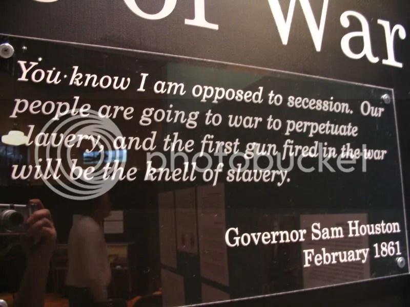 Sam Houston Plaque