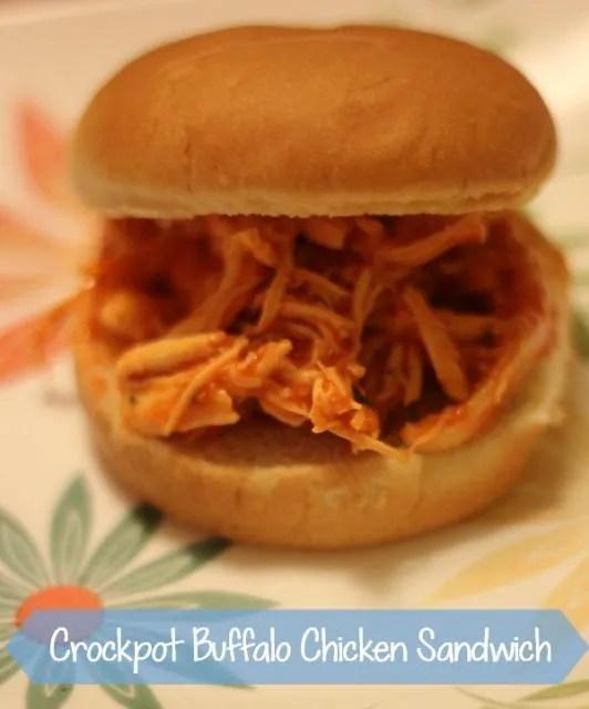 Crockpot Shredded Buffalo Chicken Sandwiches