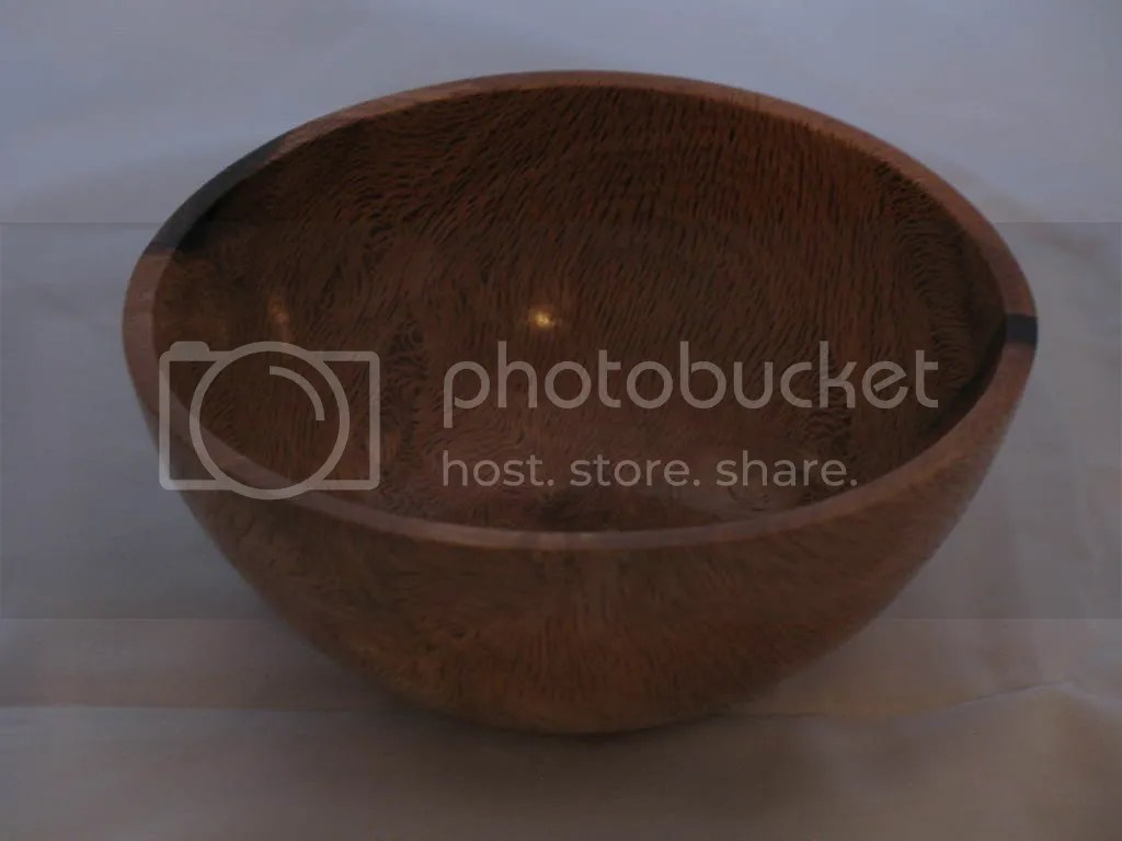 Oak burl bowl