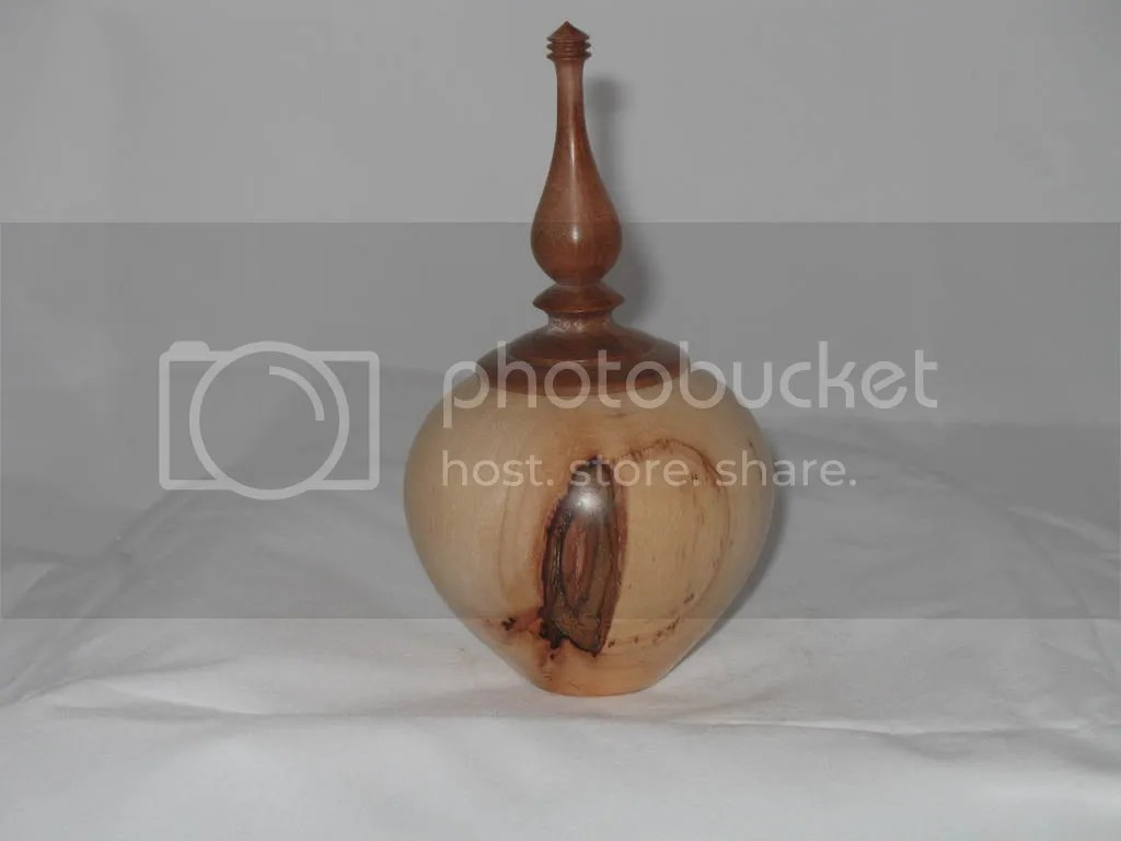 pacan box with walnut finial lid
