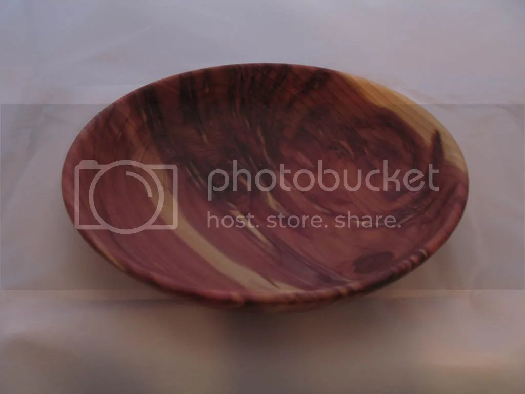 Cedar footless bowl