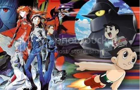 Evangelion, Gigantor y Astroboy