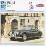 1954 1957 Jaguar Xk140 Classic Car Photo Info Maxi Card Ebay