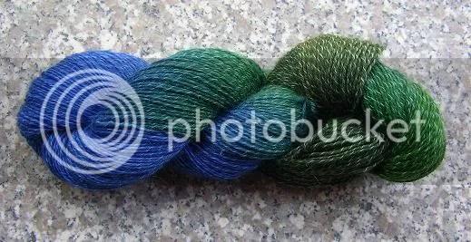 Blau-grüne Flamme