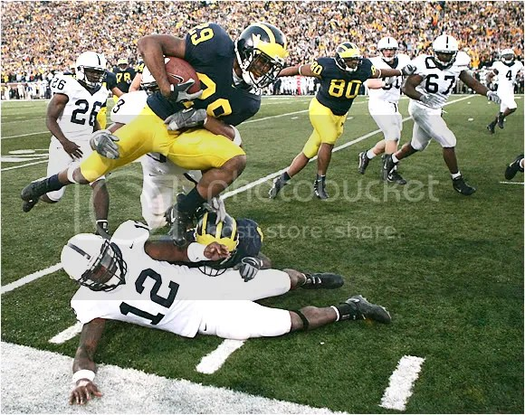 Leon Hall returning an interception against Penn State in 2005 [insert obligatory MANNINGHAM! reference when discussing this game here]