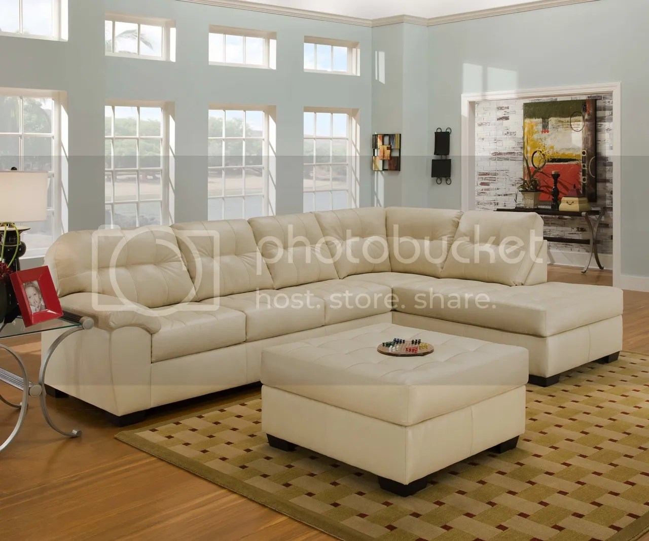 soho contemporary ivory bonded leather sectional sofa w chaise simmons