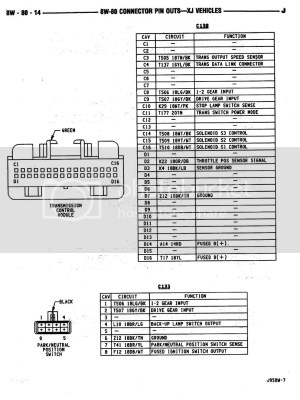 AW4 TCU Wiring Diagram  JeepForum