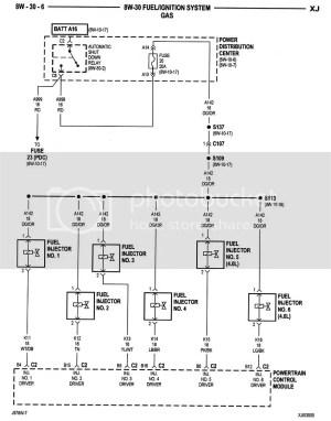 Not getting power to fuel injector from PCM  Jeep