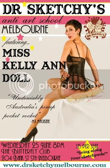 Dr Sketchy's Melbourne KellyAnn Doll