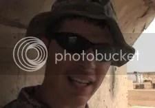 Ryan Conklin in Iraq