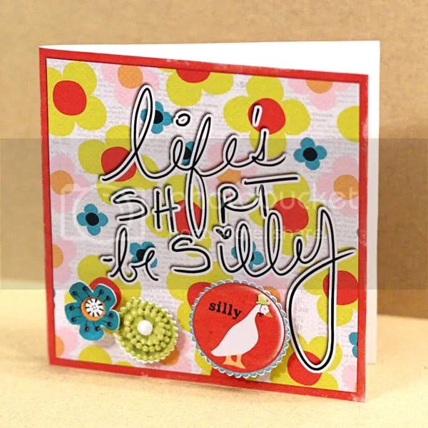Be Silly card