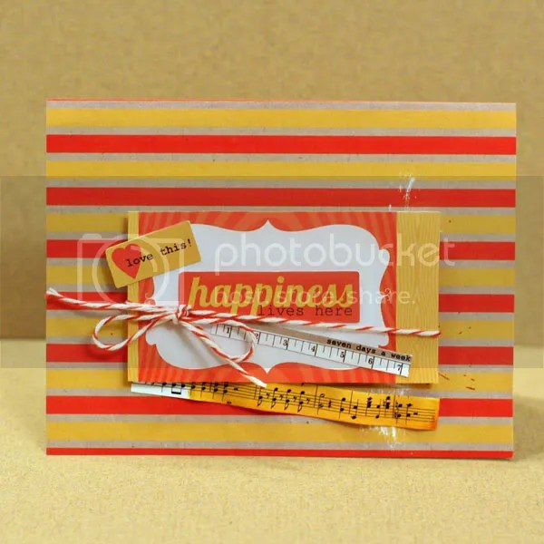 Happiness Lives Here card