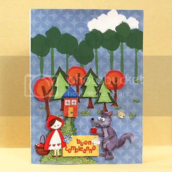 Little Red Riding Hood Birthday Card