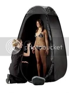 spray tanning tent