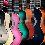 Guitars in pretty colors especially