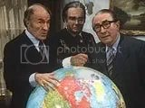 Barry Morse, Richard Griffiths and Peter Jones in Whoops Apocalypse