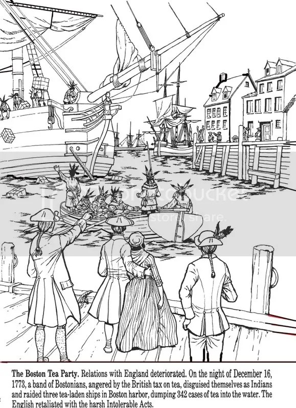 All Things John Adams: Coloring Pages: Boston Tea Party And Paul Revere's Ride
