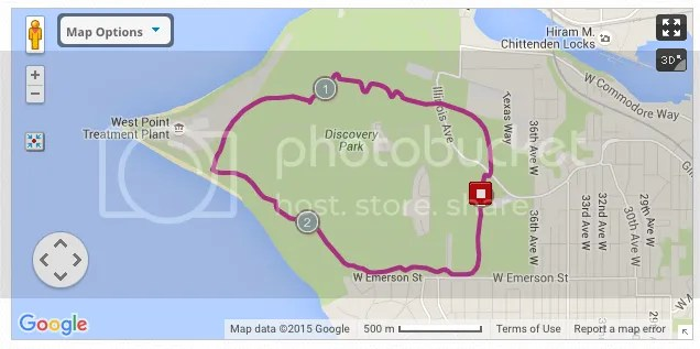 Discovery Park 2.7 miler running route