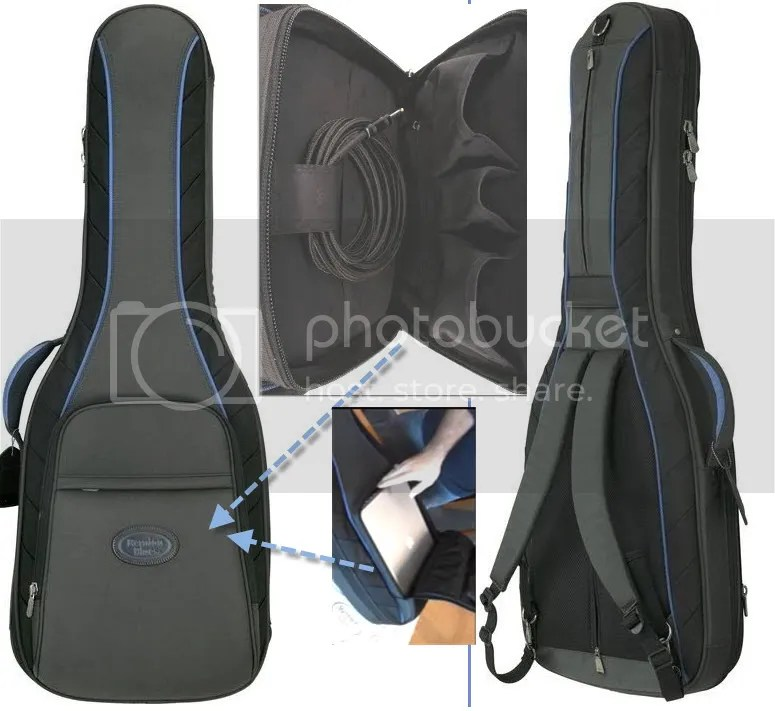 Laptop, cables, backpack straps and more!