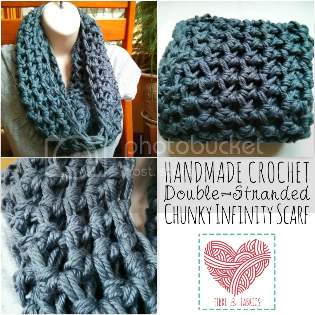 #Fibreandfabrics Shop - #Crochet Double-Stranded Infinity Scarf *Made to Order*