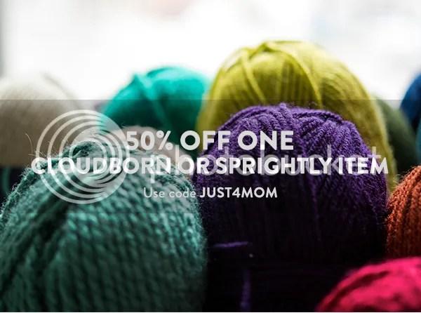 Take 50% off one Cloudborn or Sprightly item with code JUST4MOM on Craftsy thru 5/14 → http://www.shareasale.com/u.cfm?d=415081&m=29190&u=1306778 afflink