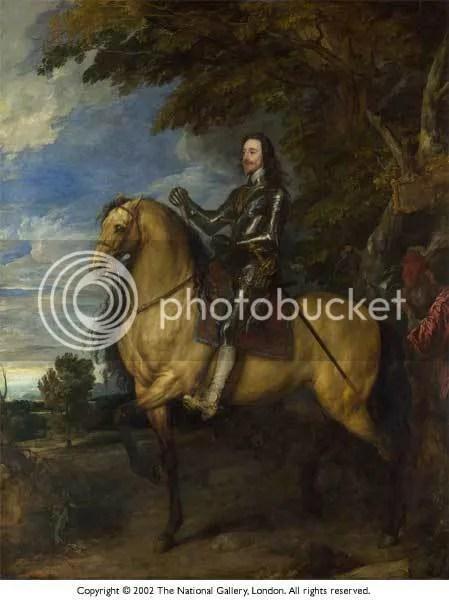 Charles I on Horseback by Van Dycke