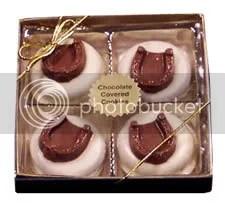 White chocolate covered Oreos