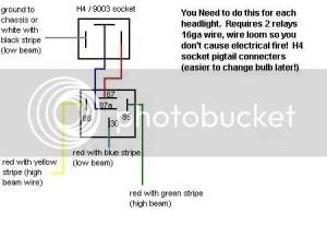 9397 AE102 JDM H4 Headlight Wiring Diagram:  Toyota