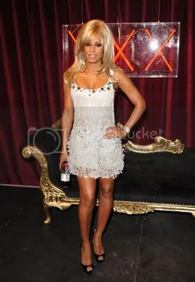 Mel as Tina Turner at the Glaceau Vitamin Water Launch