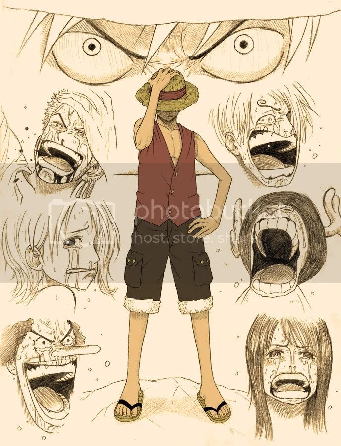 Pictured: The emotion that drives One Piece... the emotion that drives Luffy into greatness.