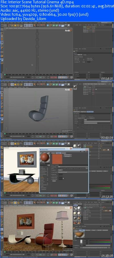 77d4aeb1ea92706d5a3948ced9818a3c Interior Scene Cinema 4D Training