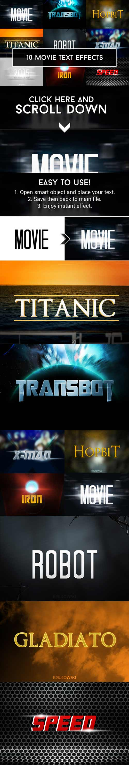 CM - Movie Text Effects 265114