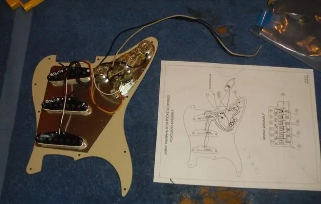 rewiring a squier® stratocaster® fender® pickups amateur to the wiring diagram and double checked each wire on the diagram to make sure i didn t miss anything an extra set of eyes and hands my son s helped