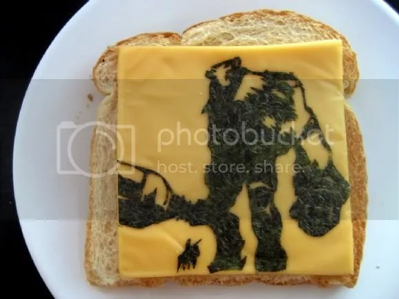 Not Obento, but to make Grilled Cheese look like Shadow of the Collossus is AMAZING!