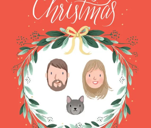 Custom Illustrated Family Portraits Perfect For Framing Or Christmas Cards By Kathryn Selbert