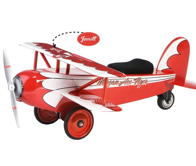 Coolest First Birthday Gifts Personalized Ace Flyer Biplane Ride On Toy