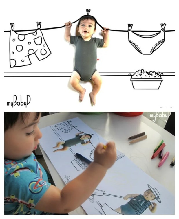MyBabyD app can turn photo illustrations of your kid into fun keepsakes like coloring pages and calendars