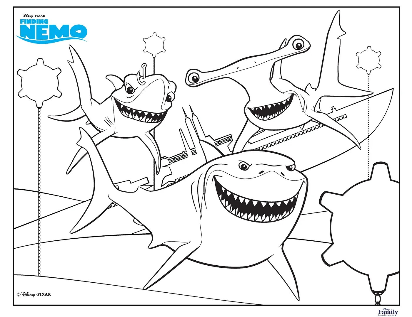 finding nemo coloring pages for kids printable free finding ...