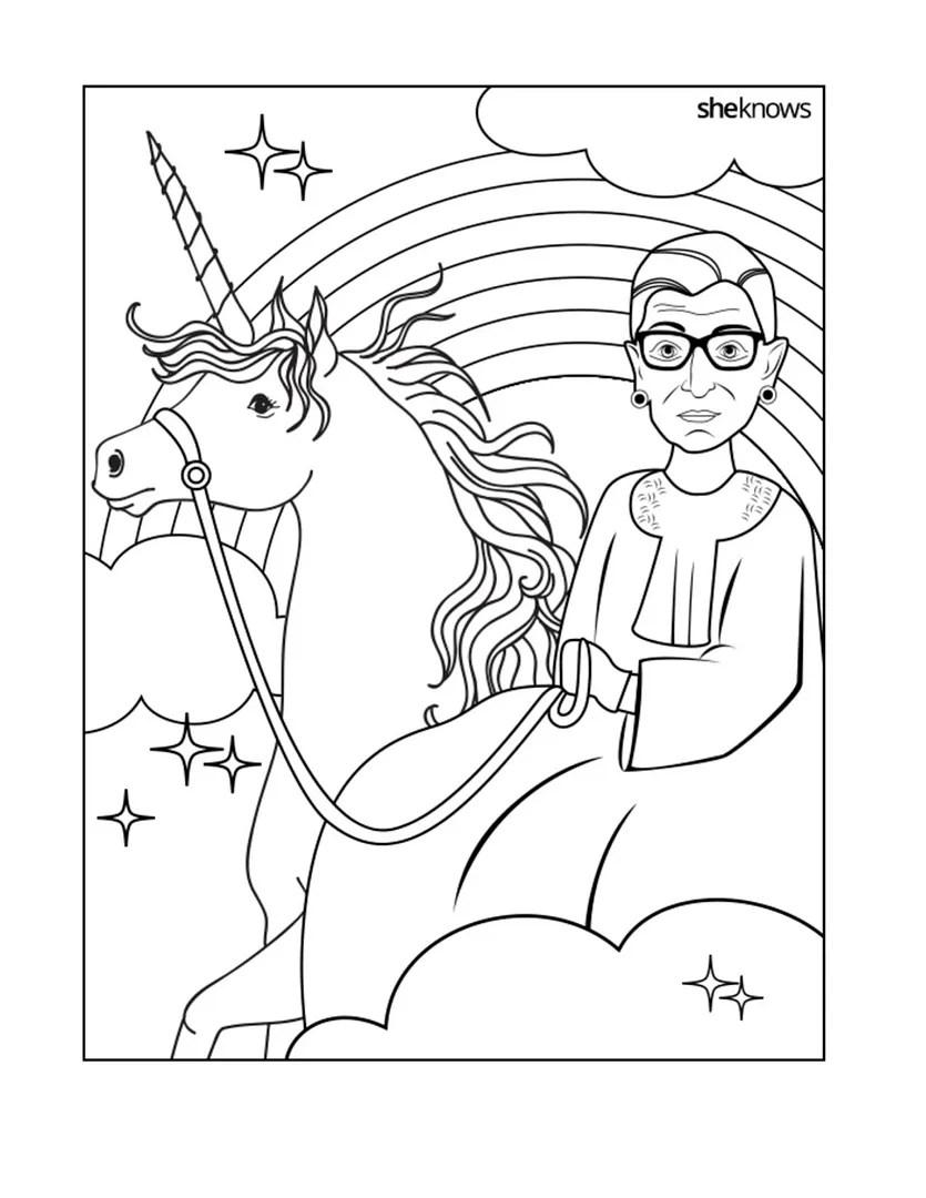 free ruth bader ginsburg coloring pages  cool mom picks