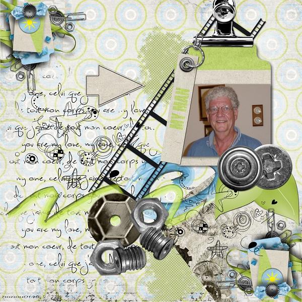 a kit for my man un kit pour mon homme simplette scrap design page audrey nanou