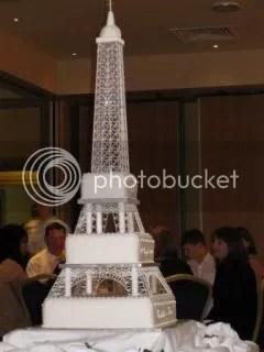Eifel Tower Theme Wedding Cake