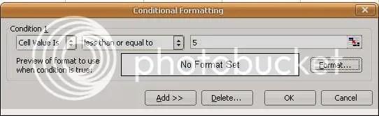 Memilih kondisi (syarat) dan format yang diinginkan